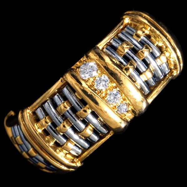99651【Cartier】Must Genuine ダイヤモンド 18K/SS 戒指 イヤリング