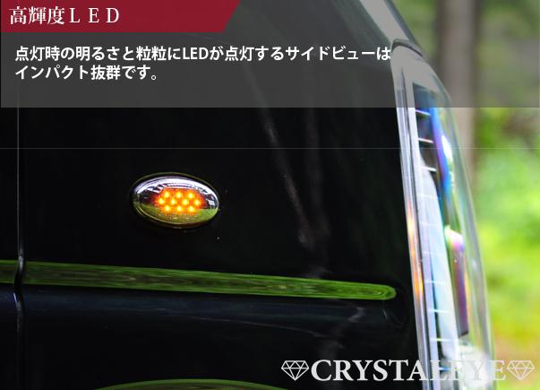 エブリイ(DA64V,W) LEDサイドマーカー 流れるウインカータイプ スズキ車用 バン ワゴン DA64 LEDサイドマーカー スモーク_画像4