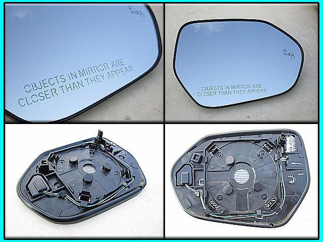 プリウスPHV【TOYOTA】ZVW52トヨタPRIUSプライム純正USドアミラー鏡面ガラス右側(ヒーター&BSモニター付)/USDM北米仕様Prime英文字入りUSA_画像2