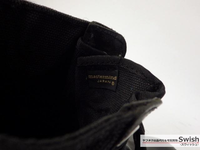 Z114■mastermind JAPAN マスターマインド■バックジップ レースアップ ブーツ 黒■_画像9