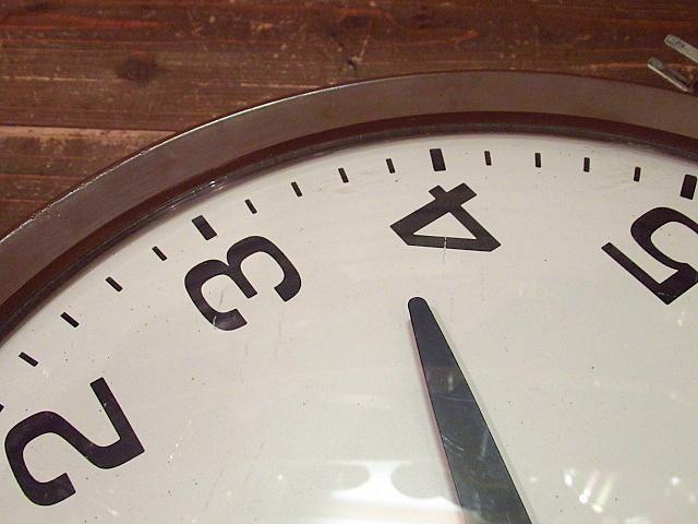 ビンテージ60's★GENERAL ELECTRIC スクールクロック茶★50's70'sジェネラルエレクトリック壁掛け時計家具インテリアウォールクロックUSA_画像9