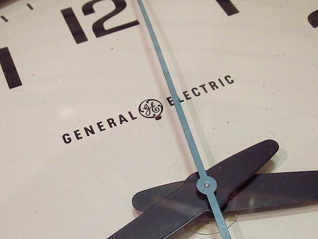 ビンテージ60's★GENERAL ELECTRIC スクールクロック茶★50's70'sジェネラルエレクトリック壁掛け時計家具インテリアウォールクロックUSA_画像5