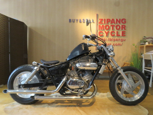 「HONDA MAGNA 250 MC29 ホンダ マグナ 250cc ブラック 27800km エンジン実動! アメリカン バイク カスタム製作中! 札幌発」の画像1
