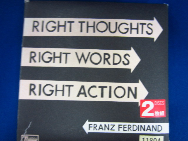 o60 レンタル版CD Right Thoughts, Right Words, Right Action(輸入盤)/フランツ・フェルディナンド 11804_画像1