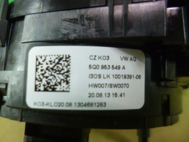 ゴルフ7 ハイライン AUCPT スリップリング スパイラルケーブル 動作確認済み [QVQV38759]VW ゴルフⅦ 2014年式 5G AU CPT_画像4