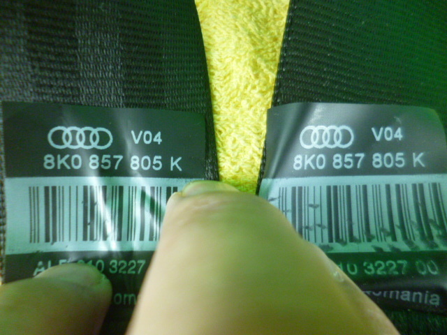 アウディA4 アバント 8KCDH 前期 純正 リアシートベルト 左右セット 8K0857805K 動作確認済み 〔QVQV37122〕8K_画像4