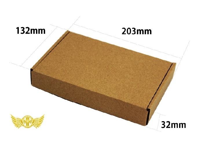 【送料800円】小型サイズ薄型段ボール 132×203×32mm ケース・梱包資材 組立箱 ダンボール箱 段ボール箱 梱包用品 梱包資材 n式 業務用_画像4