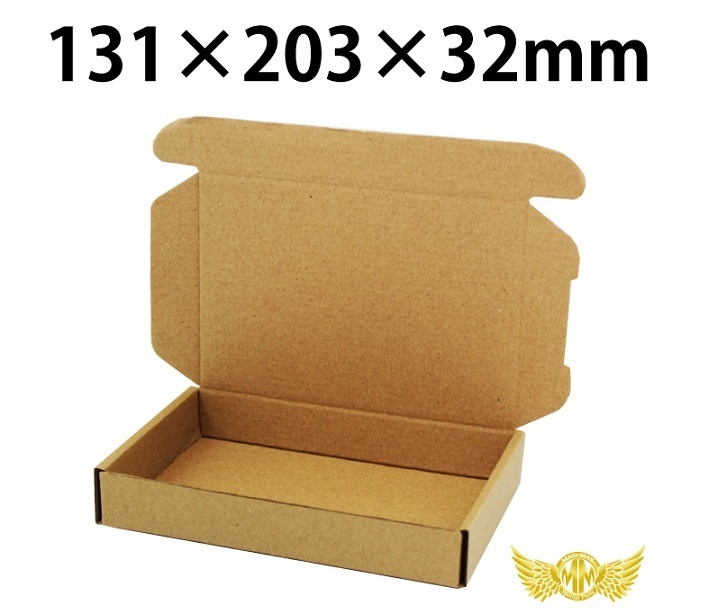 【送料800円】小型サイズ薄型段ボール 132×203×32mm ケース・梱包資材 組立箱 ダンボール箱 段ボール箱 梱包用品 梱包資材 n式 業務用_画像1