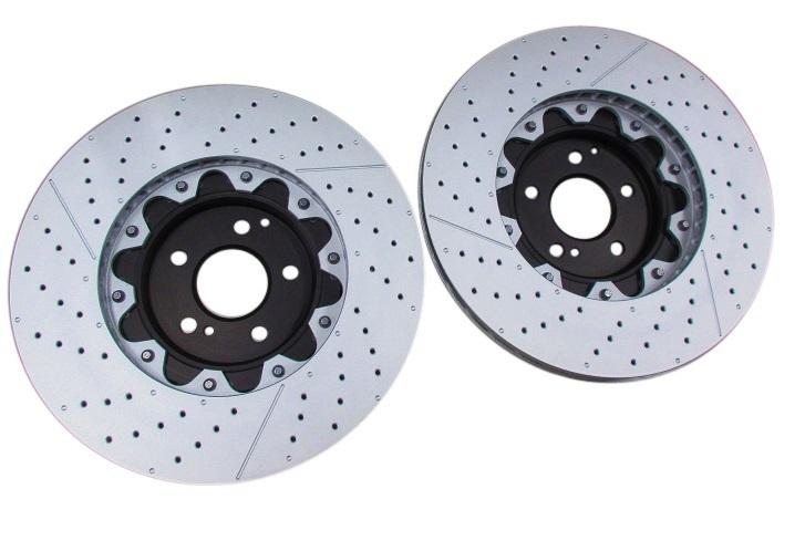 BREMBO フロント ブレーキディスクローター (左右) ベンツ W211 W212 Eクラス E63AMG/W204 Cクラス C63AMG (219-421-0212)_画像2