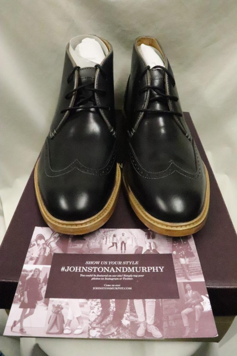 【0312】Johnston & Murphyウィングチップチャッカブーツ☆新品高級高品質9M_画像1