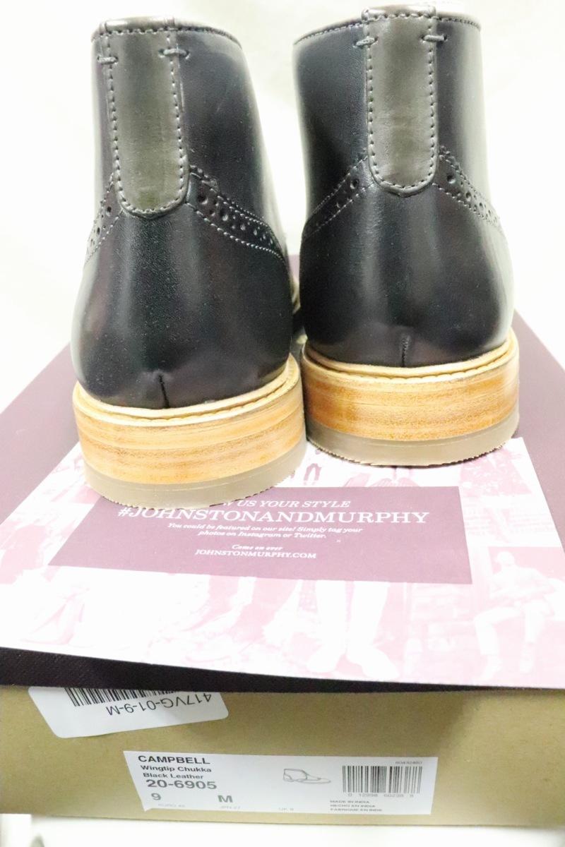 【0312】Johnston & Murphyウィングチップチャッカブーツ☆新品高級高品質9M_画像3
