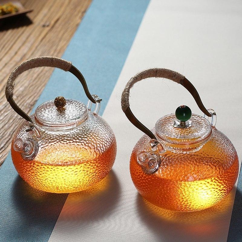 UPORS 耐熱ガラス ティーポット やかん ガラス IH 対応 スタイリッシュ おしゃれ コーヒー 茶