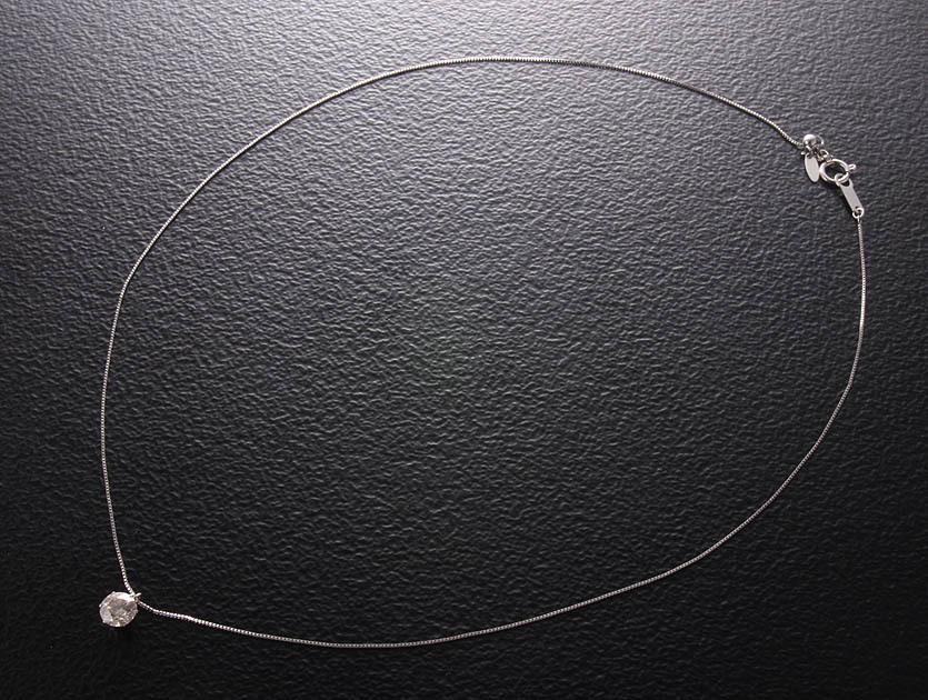 一粒ダイア0.87ctのPt900製45cmネックレス・2.0g/IP-5402_画像7