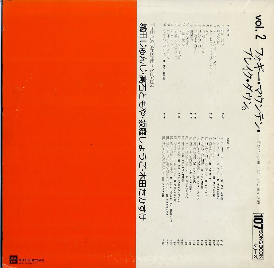LP☆ナターシャー・セブン / NATARSHER SEVEN / フォギー・マウンテン・ブレイク・ダウン / 5弦バンジョー・ワーク・ショップ編_画像2