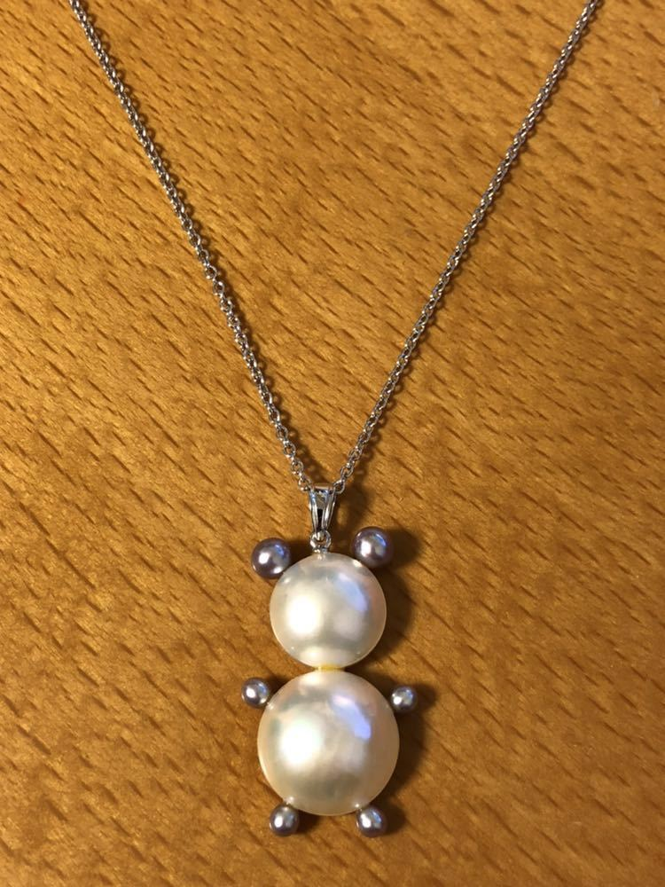 Genuine beauty [TASAKI] Silver Mabepard Necklace bearmot