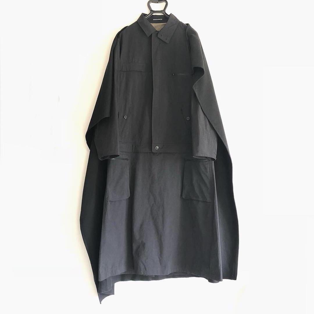 ヨウジヤマモトプールオム yohjiyamamoto pourhomme 17aw 2017 三代目JSB 小林 直己 コート マント ドッキング ジャケット スカート