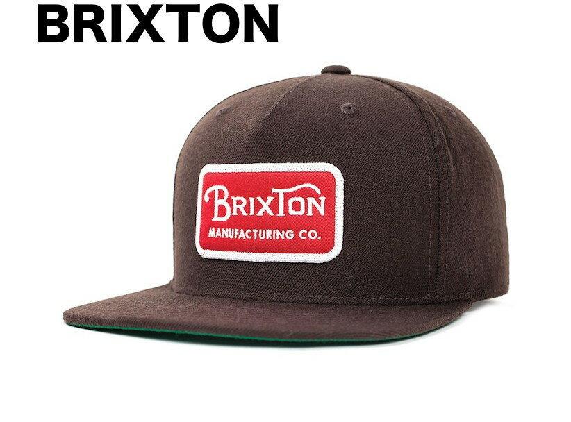 db3730a21c2 Brixton Grade Snapback Hat Cap Dark Brown キ... - ヤフオク!