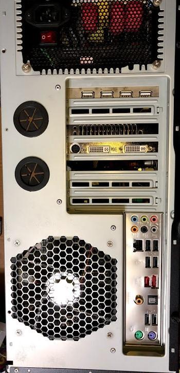 自作パソコン 自作PC / ASUS P6T / Core i7 / GeForce GTX 260 / ドライブ類無し   ジャンク_画像3