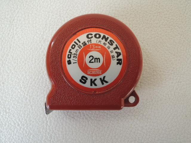S / SKK 1/33m 目盛付 (尺相当目盛)scroll CONSTAR スケール 巻尺 メジャー SC3020S 2m 13mm / scroll SHIKOKU / 中古品