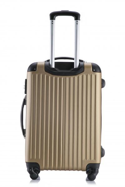 ◎1円~新品未使用 超軽量スーツケース Sサイズ 34L  安心のTSAロック搭載 ゴールド (A1