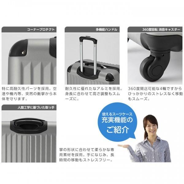 ◎1円~新品未使用 超軽量スーツケース Sサイズ 34L  安心のTSAロック搭載 ゴールド (A1_画像3
