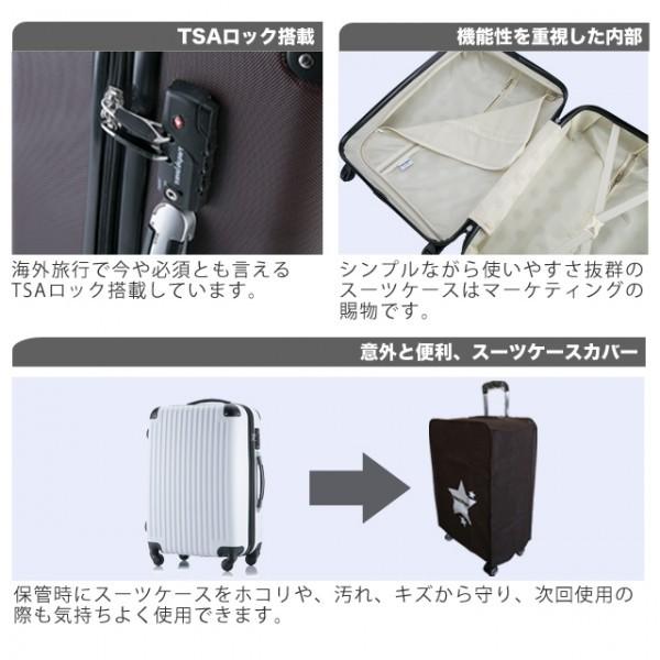 ◎1円~新品未使用 超軽量スーツケース Sサイズ 34L  安心のTSAロック搭載 ゴールド (A1_画像4