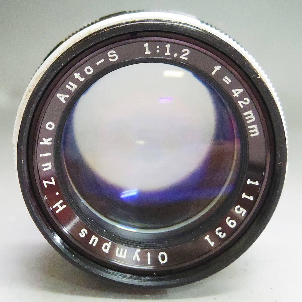 14 08-128864-31 ◇ オリンパス OLYMPUS PEN FT フィルムカメラ レンズ H.ZUIKO AUTO-S 1:1.2 f=42mm 神08_画像5