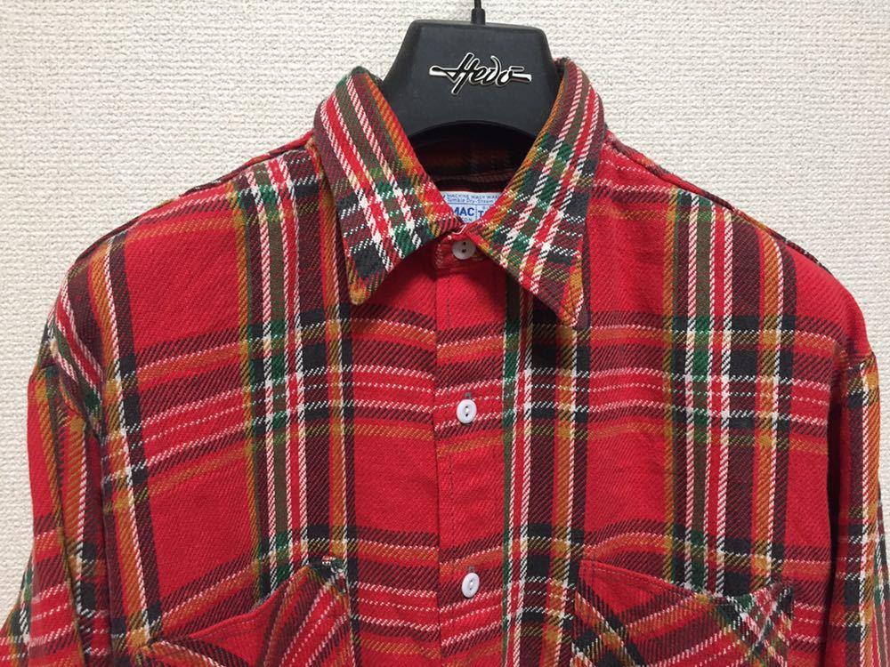 USAヴィンテージ 70's BIGMAC JCPenney ビッグマック ヘビーネルシャツ チェックシャツ 長袖シャツ TALL L 赤_画像4