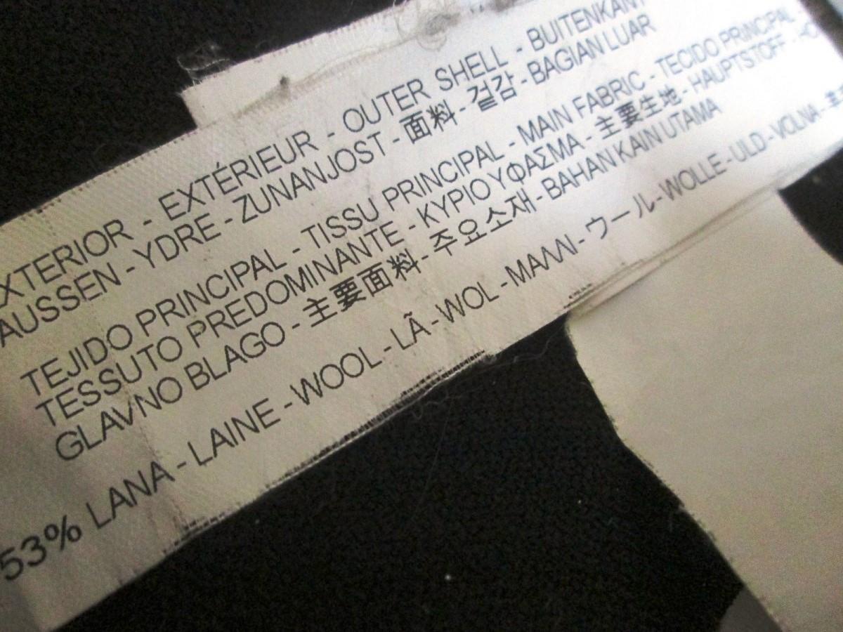 ZARA MAN ザラ マン メンズ メルトン ボタン ジップ シングルコート_画像7