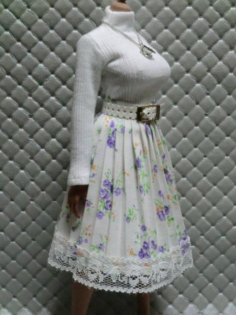TBLeague・ファイセン着せ付け可:白のセーターとロングスカート 定形(外)郵便は送料無料です(^o^)_画像4