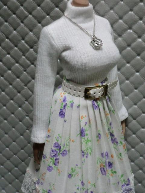 TBLeague・ファイセン着せ付け可:白のセーターとロングスカート 定形(外)郵便は送料無料です(^o^)_画像2