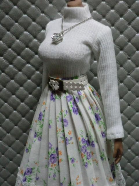 TBLeague・ファイセン着せ付け可:白のセーターとロングスカート 定形(外)郵便は送料無料です(^o^)_画像3