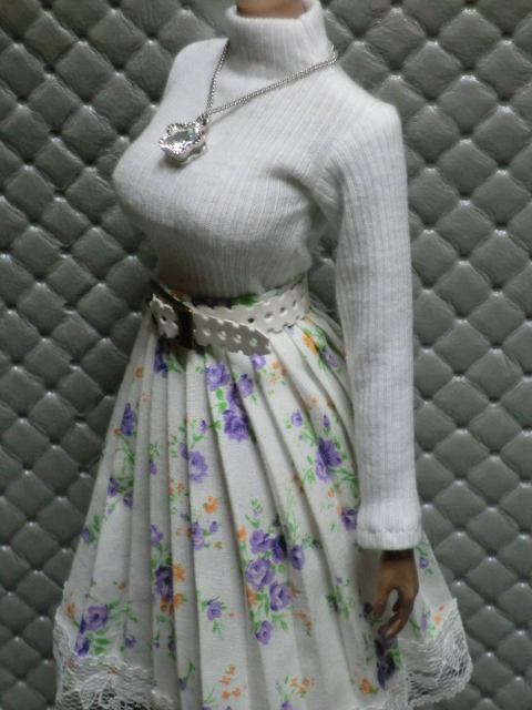 TBLeague・ファイセン着せ付け可:白のセーターとロングスカート 定形(外)郵便は送料無料です(^o^)_画像8