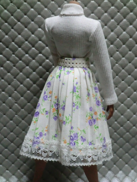 TBLeague・ファイセン着せ付け可:白のセーターとロングスカート 定形(外)郵便は送料無料です(^o^)_画像5