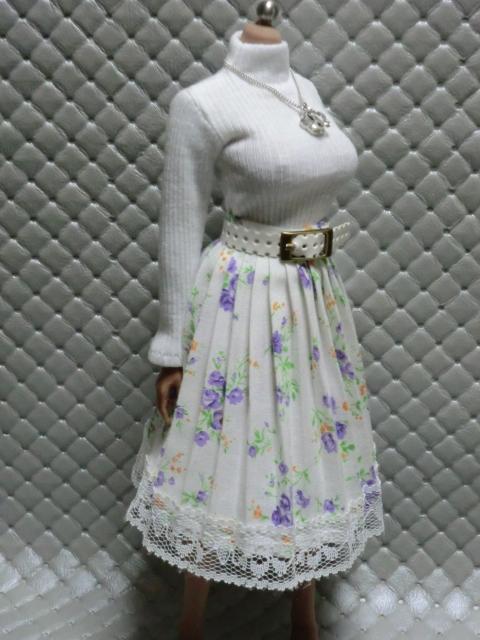 TBLeague・ファイセン着せ付け可:白のセーターとロングスカート 定形(外)郵便は送料無料です(^o^)_画像6