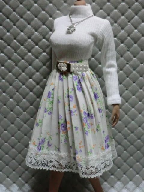 TBLeague・ファイセン着せ付け可:白のセーターとロングスカート 定形(外)郵便は送料無料です(^o^)_画像7