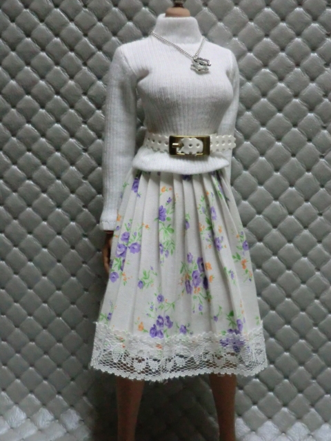 TBLeague・ファイセン着せ付け可:白のセーターとロングスカート 定形(外)郵便は送料無料です(^o^)_画像9