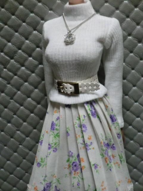 TBLeague・ファイセン着せ付け可:白のセーターとロングスカート 定形(外)郵便は送料無料です(^o^)_画像10