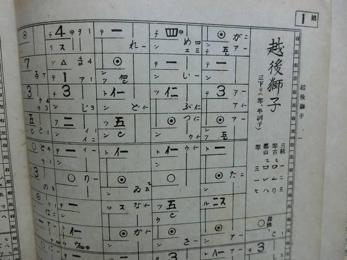 三味線楽譜 大和統一著(地唄)越後獅子  昭和12年発行_画像2