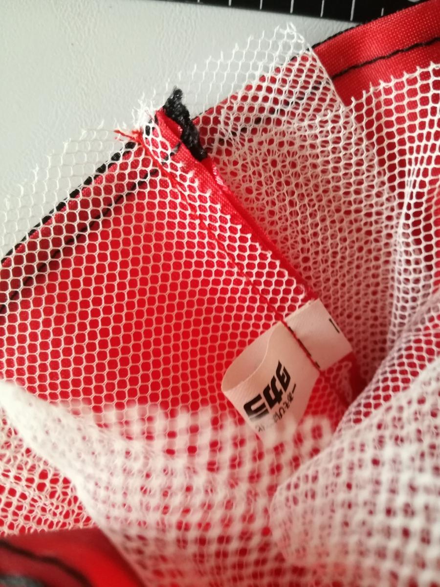 タカラタグ 人形用 赤×黒 ブラック パイピング ワンピース リボン サテン バービー ジェニー momokodoll 1/6ドール_画像3