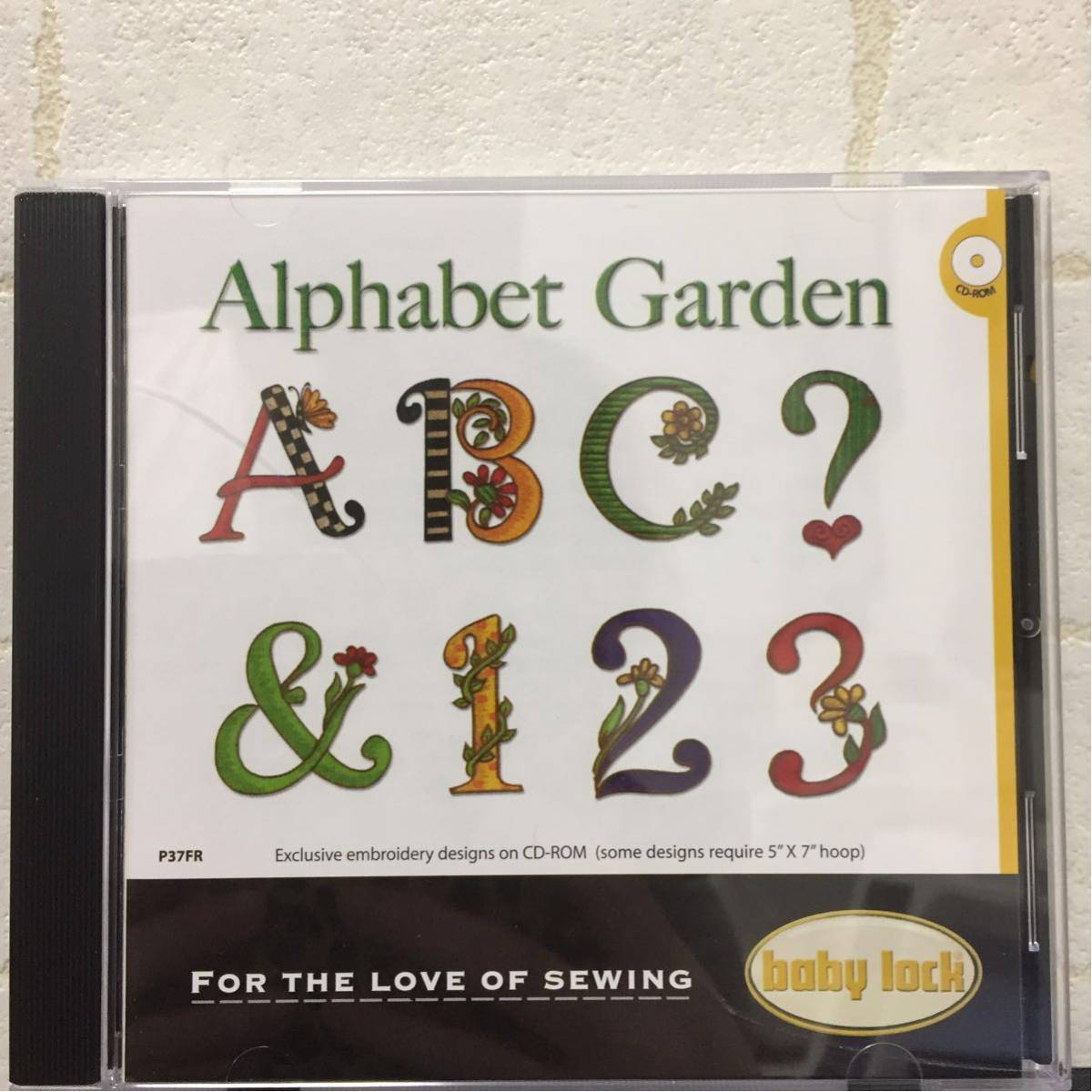 data CD *alphabet Garden* alphabet Brother Janome singer