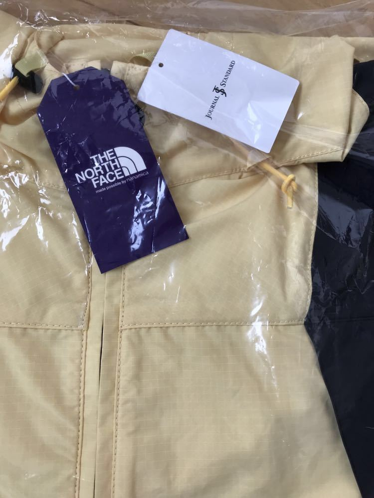 L正規新品未使用タグ付き別注THE NORTH FACE PURPLE LABEL JOURNAL STANDARD コラボ パープルレーベル JS Mountain Wind P イエロー_画像1