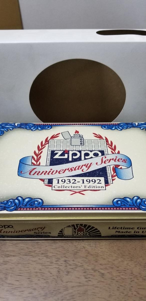 新品 ケース入りアニバーサリーシリーズジッポー zippo オイルライター 1932-1992 入手困難 激レア コレクションアイテム 6個セット