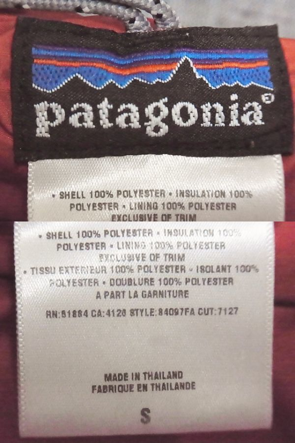 PATAGONIA パタゴニア / 84097FA DAS PARKA ダスパーカ ダスパーカー中綿ジャケット / Sサイズ / ホットラバ オレンジ /_画像5
