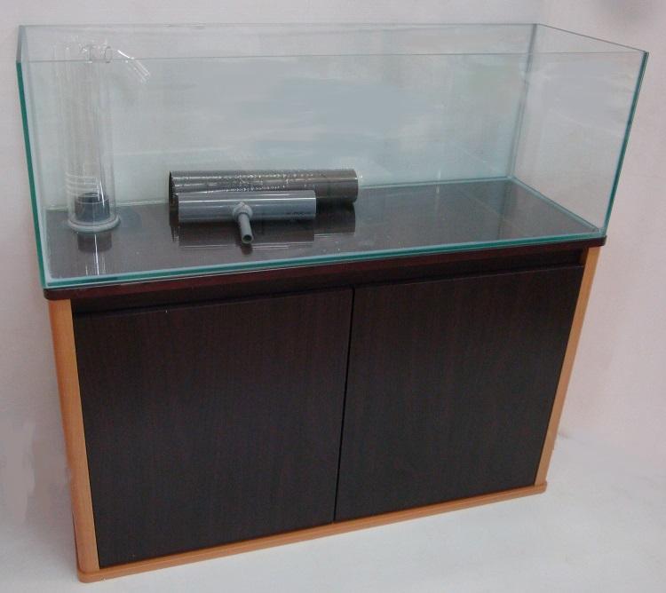 特注 900×300×300オーバーフローセット(水槽・プロスタイルキャビ・濾過槽) クリアーシリコン 未使用品