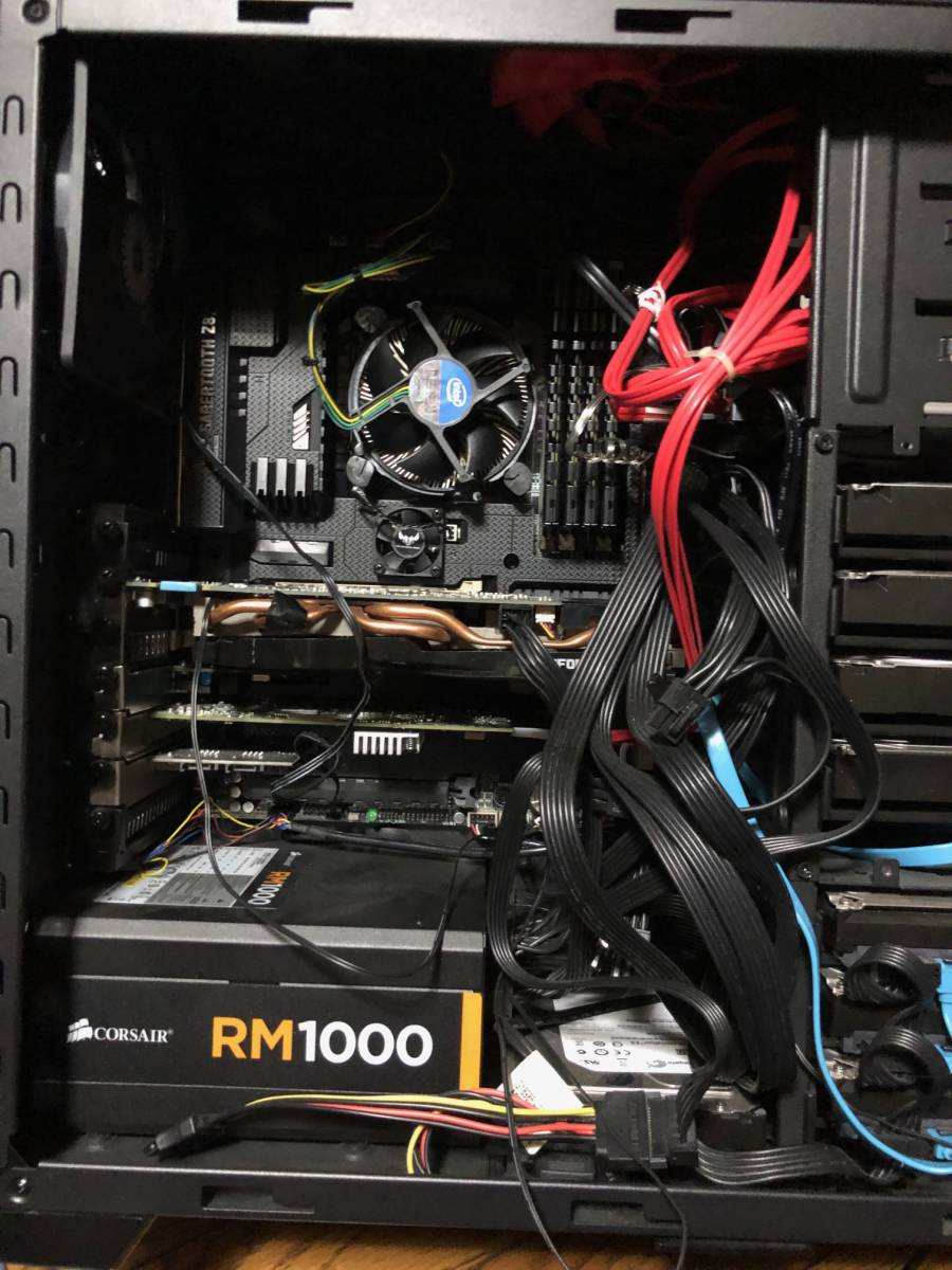 【自作PC】asus Z87 Core i7 4770K 3.5GHz / 32.0GB / GIGABYTE GeForce GTX660 / SSD180GB / HDD 3TB ×4 2TB×4 / 1000W_画像6