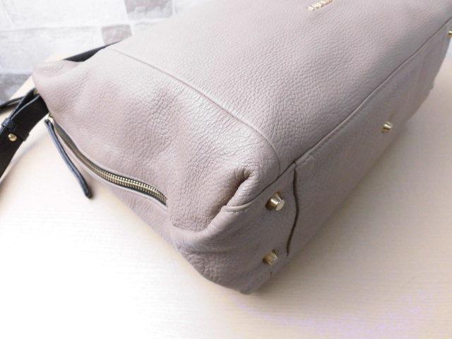 a4cff23d101b 極美品□フルラFURLA□2way ハンドバッグショルダーバッグレザーグレージュバイカラーA4可上品鞄ag1840. 商品數量: :1