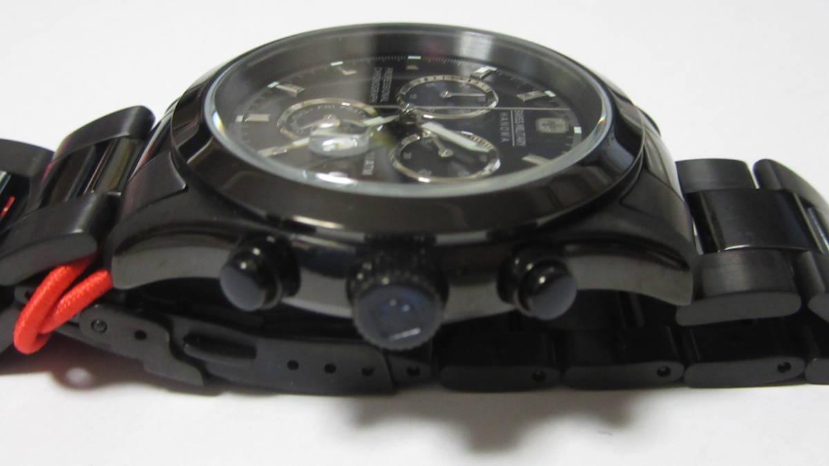 スイスミリタリー SWISS MILITARY クロノグラフ ブラック 展示未使用品 箱無_画像7