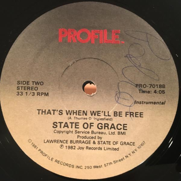 ☆State Of Grace/That's When We'll Be Free☆ITALO SYNTH POP!_画像2