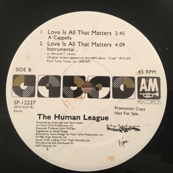 ☆Human League/Love Is All That Matters☆SYNTH POP名作!_画像2